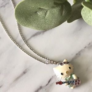 Rockstar Hello Kitty 925 Sterling Silver Pendant